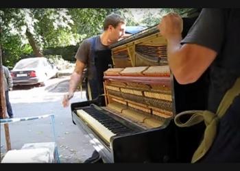 Профессиональная перевозка пианино.