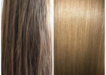 Кератиновое восстановление, ботокс волос, прикорневой объем