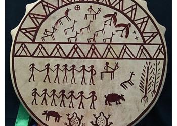 Бубен шаманский (круг) - 35 см