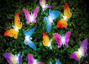 Гирлянда на солнечных батареях бабочки