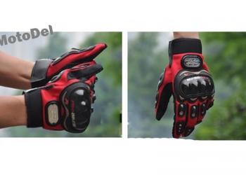 Мото перчатки Pro-Biker, размер: M, L, XL цвет: красный, черный