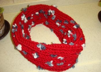 Снуд шарф новый вязанный
