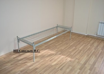 Кровати металлические 1-ярусные и 2-ярусные