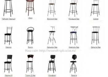 """Барный стул с мягкой спинкой """"Казино М"""" и другие модели."""