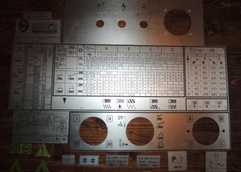 Шильдики к станкам 16к20, 16к25, 1к625, 16в20, 16к25, мк6056, 1м65 (таблички).