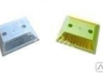 Светоотражатель КД-3 (катафот) пластиковый анкерный белый/желтый