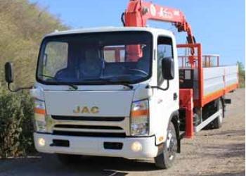 Манипулятор на базе шасси Jac N75 (5 тонн)