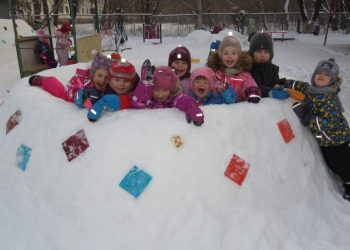 Ледовые городок -детская радость