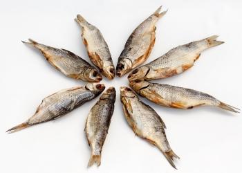 Вкусная вяленая вобла из Астрахани.
