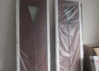 Двери (2) межкомнатные новые в упаковке. Итальянский орех.
