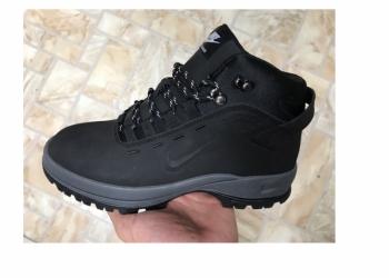 Зимние Nike (Натур. мех и нубук) Новые 41 размера ботинки