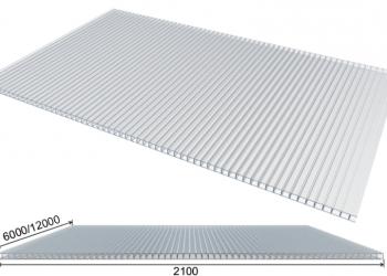 Сотовый поликарбонат 4 мм. для теплиц