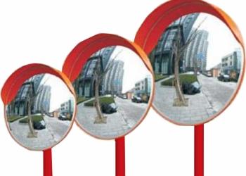 Зеркало дорожное сферическое D 800  с козырьком
