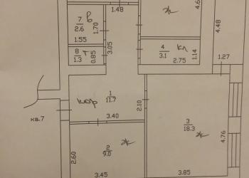 3-к квартира, 68.7 м², 1/6 эт.