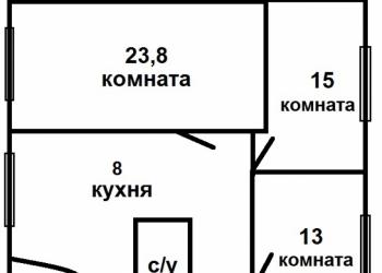 Комната в 3-к 22 м2, 3 эт., 3 эт. дом