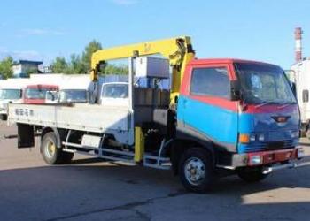 Услуга Кран-манипулятор в Домодедово Hino Ranger Аренда грузовика Hino Ranger