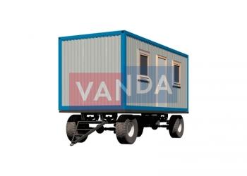 Блок контейнер на шасси 6х2,45м (распашонка)