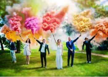 Цветной дым (цветной факел) для фотосессии, пейнтбола, болельщиков, туризма