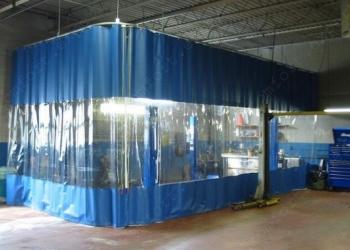Шторы производственные для автосервисов,автомоек, склады, ангары.