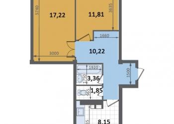 2-к квартира, 52 м2, 4/4 эт.