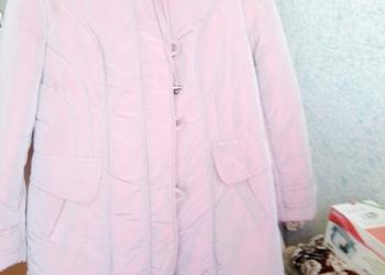 Пуховик розовый перламутр р-р 54-56