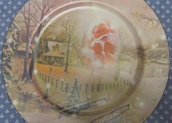 Новогодняя декоративная тарелка. Новая