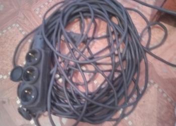 Новая переноска. 20+метров. Отличный морозостойкий медный кабель.