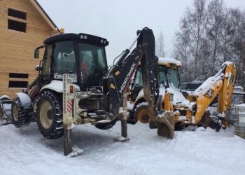 Уборка снега, услуги спецтехники, снос строений