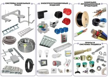 Оптовая продажа светодиодных систем, кабельной продукции и электротехнического