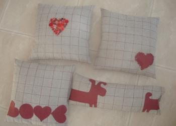 Декоративная подушка из льна  - жатый ЛЁН