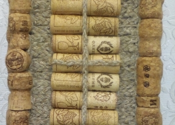 Панно на стену из натуральных материалов (пробка)