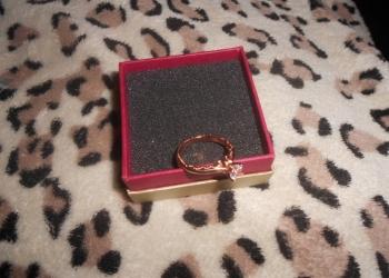 Кольцо серебро с позолотой и фианитами+подарок!