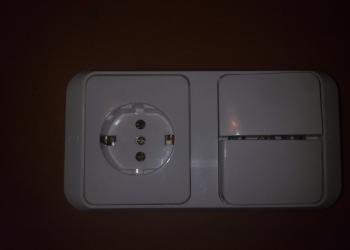 Универсальные электроблоки розетка+выключатель.
