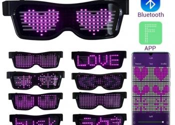 Очки на светодиодной подсветке с блютуз