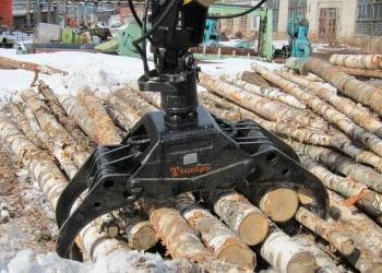 Захват для бревен - Грейфер для леса, для бревен, пиломатериалов.