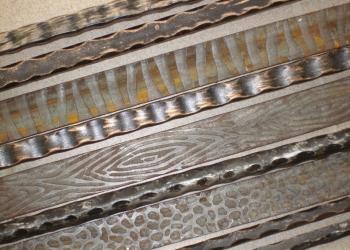 Художественный кованый металлопрокат,декоративный металл, прокат с рисунком