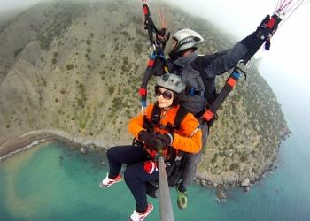 Полет на параплане с инструктором в Крыму. Клуб Paraplanix