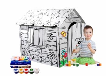 Детские домики и игрушки из картона