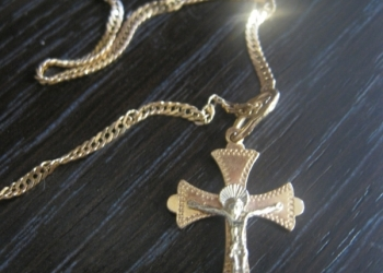 Золотая цепочка 585пр + в подарок крестик