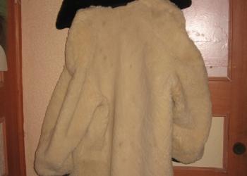 меховое полу пальто с плащевым верхом