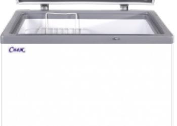 Морозильный ларь «Снеж» МЛП 250 со стеклянной прямой крышкой