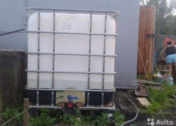 Садовые емкости на 1000 л б/у .еврокубы промытые