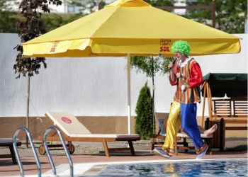 Пляжный зонт блочный 3х3 м. (квадрат)