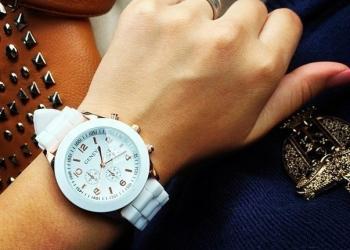 Часы женские Geneva белые для истинных Леди