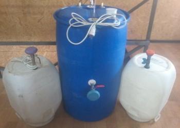 Садовый душ из пластиковой бочки на 220 и 50 л  л