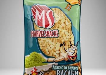 """Арахис """"Marvelsnacks""""  соленый и  со вкусами от производителя"""