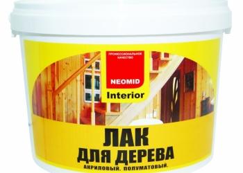 Лак акриловый полуматовый «INTERIOR» для защиты и отделки древесины.