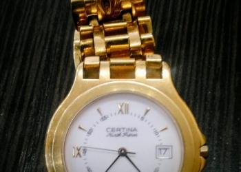Золотые наручные часы Certina Kurth Frères