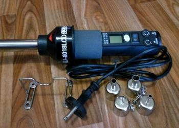 Паяльный фен GJ-8018LCD.нагрев.элемент.плата.