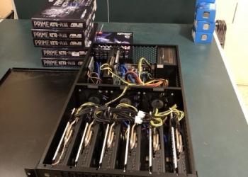 Ферма на базе 7-ми Radeon RX 580 8GB